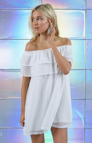 white-mesh-off-shoulder-dress-1