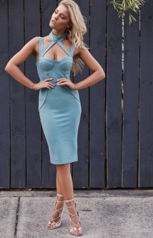 green-blue-collar-dress-n1