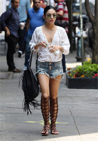 Mandatory Credit: Photo by ACE Pictures/REX Shutterstock (4810033g) Vanessa Hudgens Vanessa Hudgens out and about, New York, America - 31 May 2015