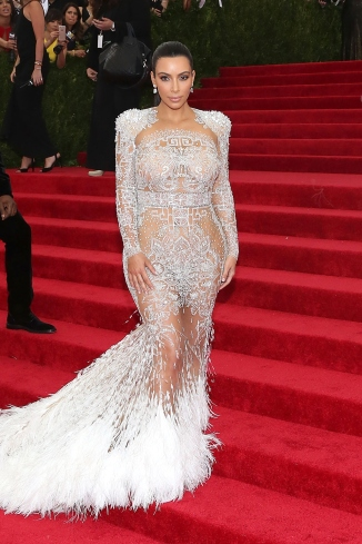 """NEW YORK, NY - MAY 04: Kim Kardashian attends """"China: Through the Looking Glass"""", the 2015 Costume Institute Gala, at Metropolitan Museum of Art on May 4, 2015 in New York City. (Photo by Taylor Hill/FilmMagic)"""