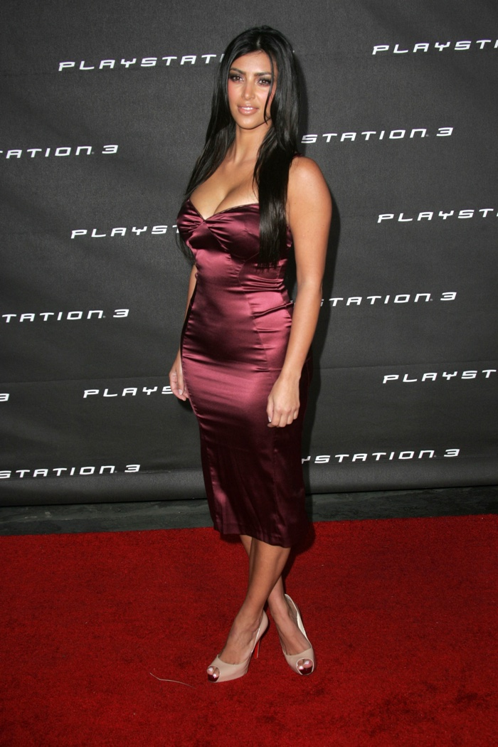 Strapless Red Dress Kim Kardashian