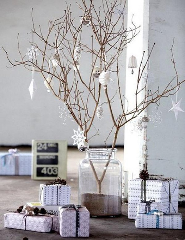 modern christmas decorating ideas rustic style 2 - Modern Christmas Decorating Ideas