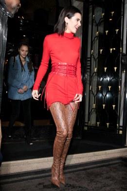 kendall-jenner-red-corset-mini-dress